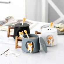 OUSSIRRO INS Shiba Inu Akita DOG 420ML COFFEE TEA MUGS CUP NORTH EUROPE STYLE FASHION DESIGN