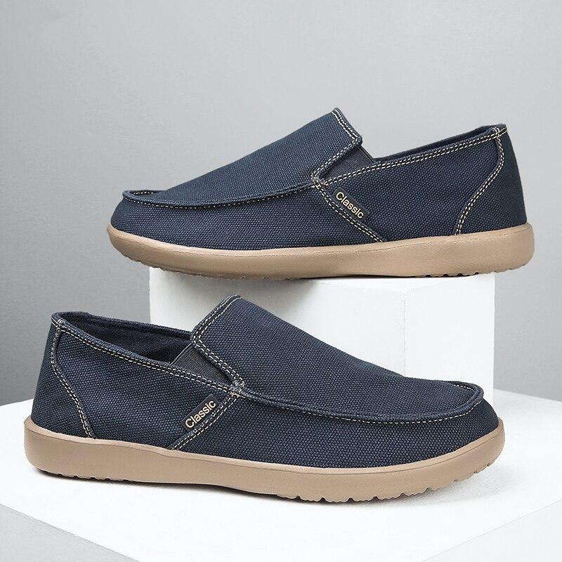 Мужская Вулканизированная обувь, Новинка осени 2020, мужская обувь, мужская обувь, дышащая холщовая обувь для прогулок, дышащие лоферы, мужски...