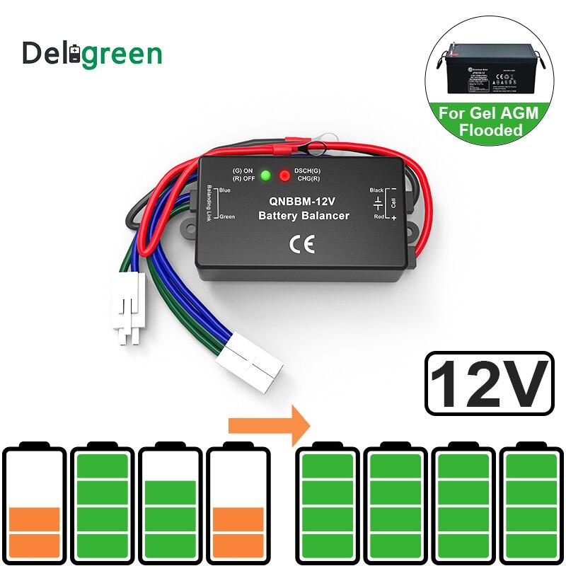 Со светодиодным индикатором 1S 12V батарея эквалайзер одноэлементная свинцово-кислотная батарея баланс BMS батарея GELL затопленная AGM