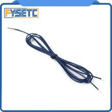 2 unids/lote PT1000 sonda 4mm * 30mm RTD 1m-wire Sensor de resistencia térmica de platino para impresora 3D E3D Volcano/V6 bloque calentador