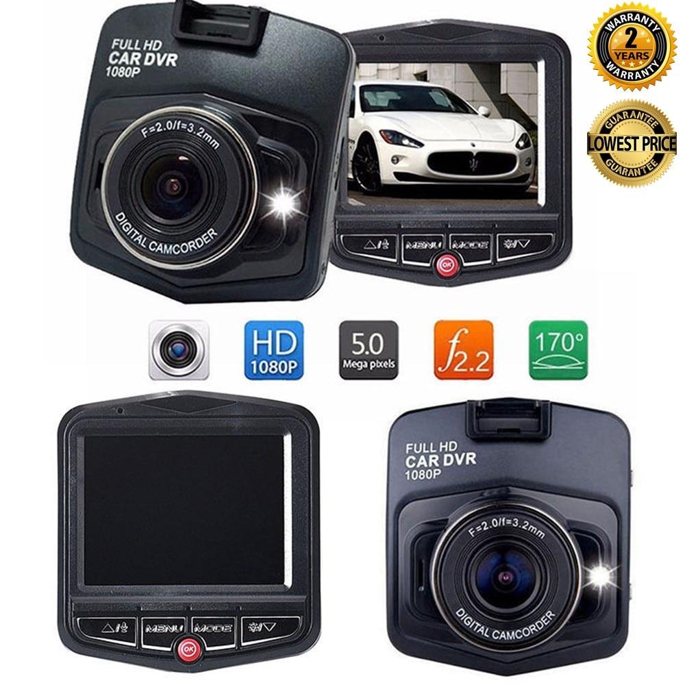 Car DVR HD 1080P Dash Camera Driving Recorder Video Night Vision Loop Recording Wide Angle Motion Detection Dashcam Registrar