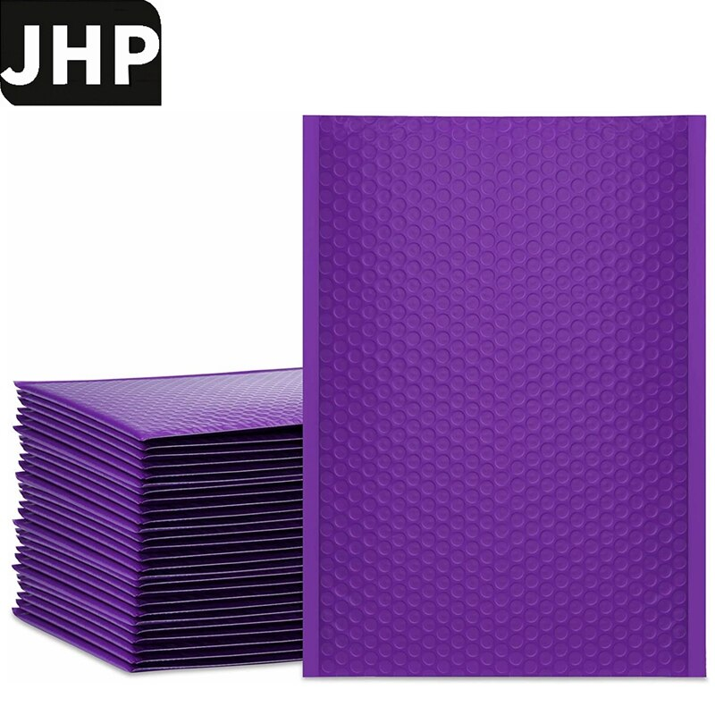 25PCS Purple Color 9.5x13.5inch 10.5x15inch BIG Size Bubble Mailer Envelopes,Self Sealing Packing Bags With Bubble Lining