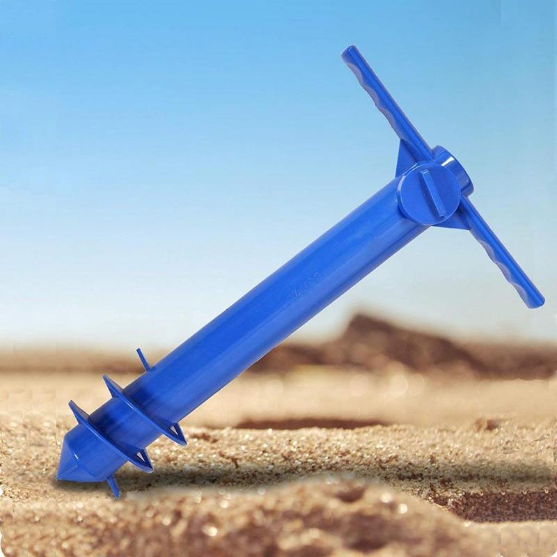 Beach Umbrella Sand Anchor Stand Holder 3-Tier Screw Hook Nail Four Legs Hooks Garden Umbrella Plastic Four Prongs Hanger