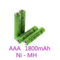 Аккумуляторная батарея AAA Ni-MH 1,2 в , новинка 100% AAA 1,2 в 1800 мАч , аккумуляторная батарея