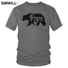 Mens Papa Bear Funny Shirts For Dads Gift Idea Novelty Tees Family T Shirt Classic Short Sleeve Summer Tshirt Super Papa T-shirt