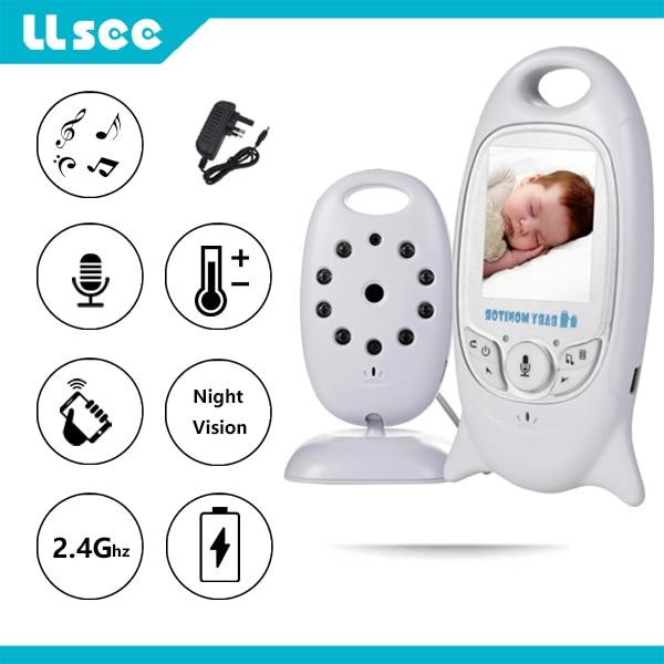 كاميرا lsee 2 بوصة على شكل رضاعة إلكترونية لعاب الأطفال والرؤية الليلية مراقبة درجة الحرارة تهويدة مراقبة الطفل