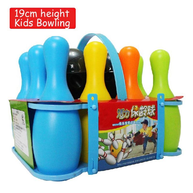 10 زجاجة 2 الكرة ABS سلامة الاطفال الطفل البولينج Gutterball اللعب في الأماكن المغلقة لعبة رياضية