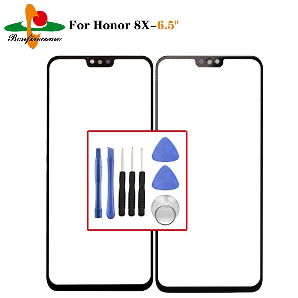 Exterior de pantalla para Huawei Honor 8X JSN-AL00 JSN-AL00a JSN-TL00 JSN-L21 frente Panel táctil LCD Pantalla de vidrio cubierta de lente de reemplazar