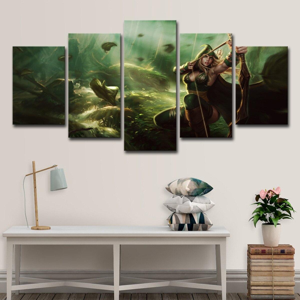 Arte da parede decoração lol liga dos heróis selva ladrão ai xi jogo pintura cartaz parede quadros da lona