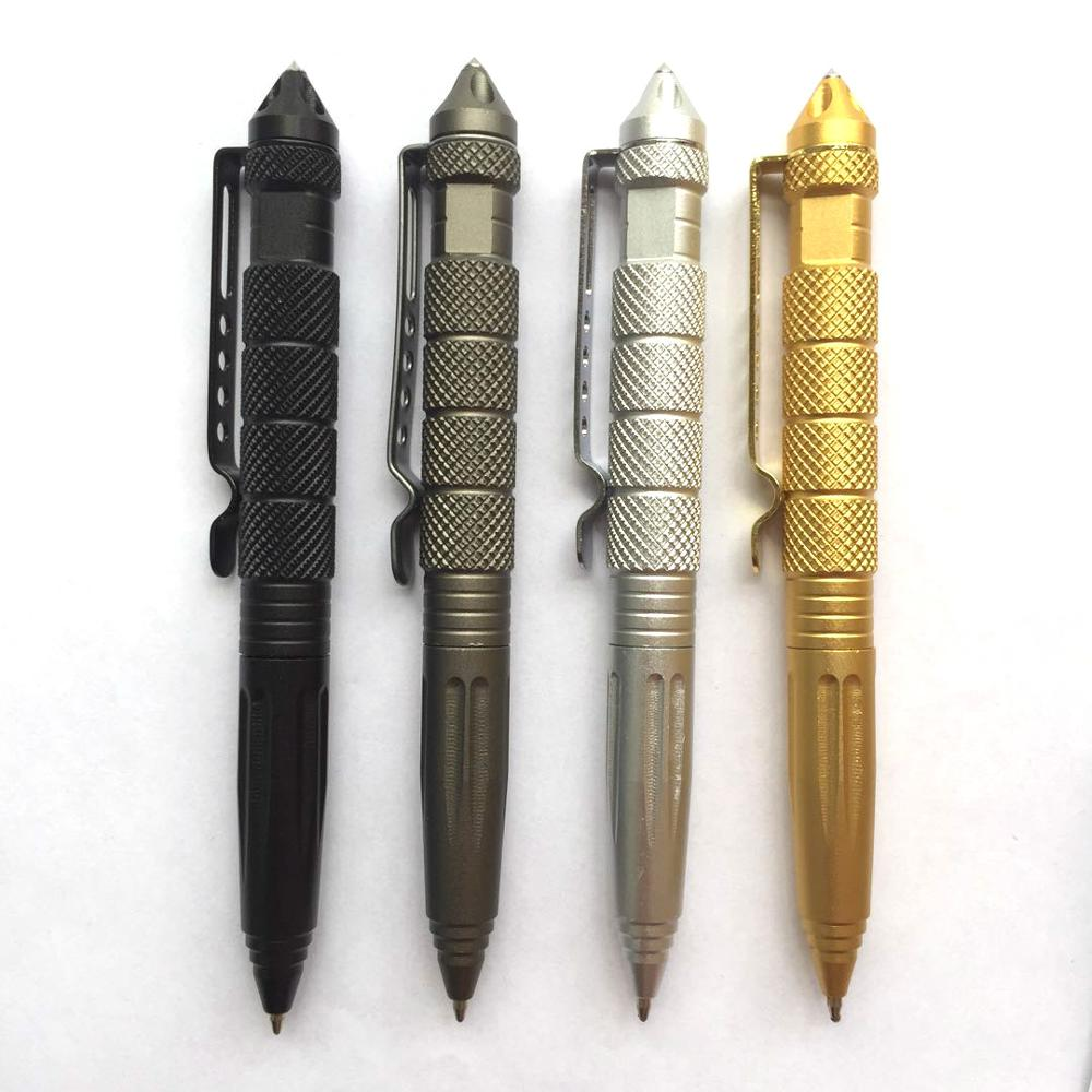 Tactical Pen Multipurpose Tool Self Defense Pen Glass Breaker Aluminum Alloy EDC Outdoor Survival Tool Writing Ballpoint Pen