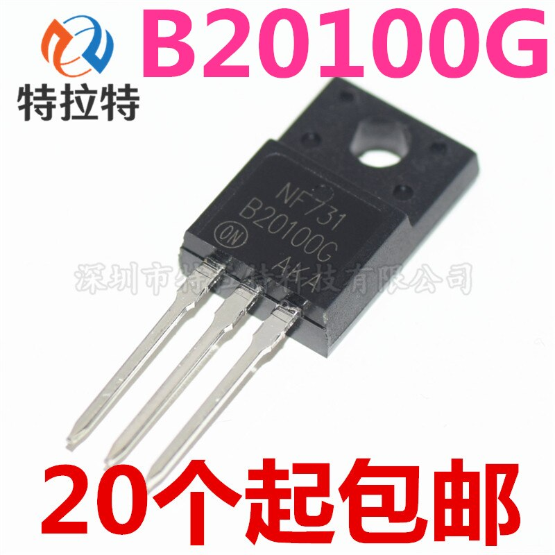 10 pcs/lot MBRF20100CT 20100CT MBRF20100 Schottky & Redresseurs 20A TO-220F nouveau original