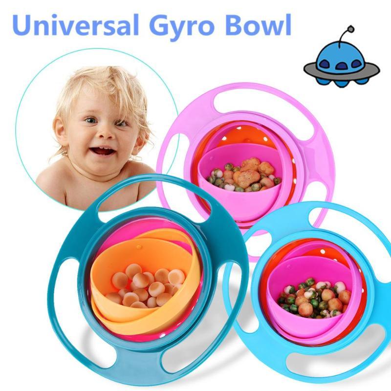 Cuenco giratorio Universal para bebés, diseño práctico, paraguas giratorio de 360 grados para niños, alimentación sólida a prueba de derrames