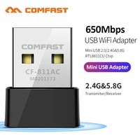 650M-1300Mbps 2 4G 5G Dual Band USB Wireless Wifi Adapter RTL8811 RTL8812 802 11AC High Speed Network Card For Laptop Desktop PC