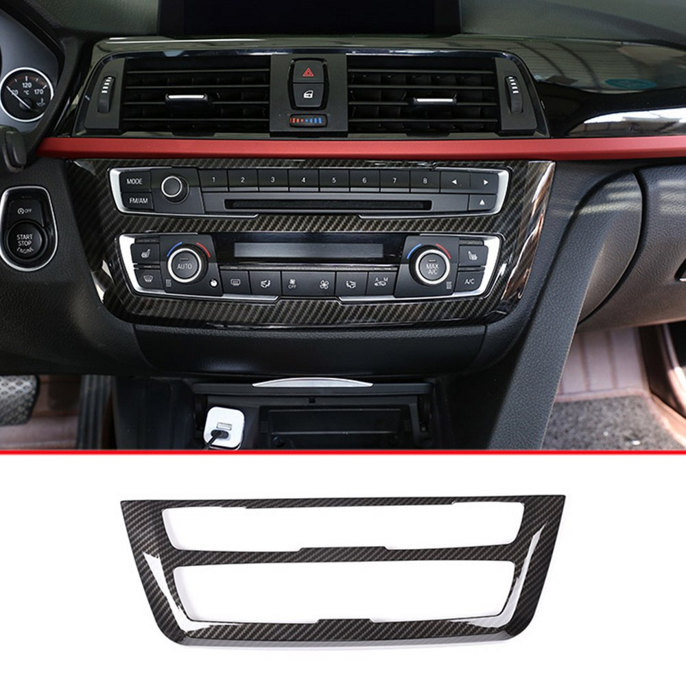Carbon Fiber Center Decoration Frame Trim Cover For BMW 3 4 Series For GT F30 F32 F34 2013-2018 Car Styling