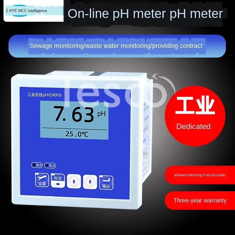 Medidor de pH en línea Industrial, medidor de pH orp, detector de valor, controlador de electrodo, prueba de sonda del sensor de calidad del agua