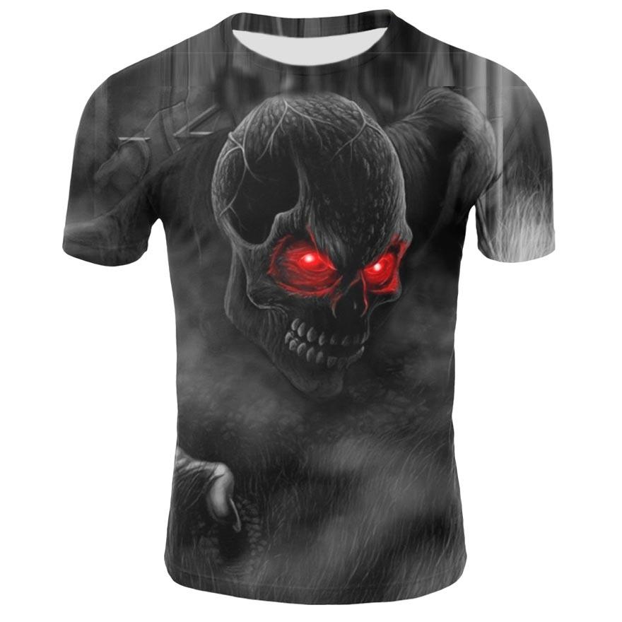 2021 new 3D mens t-shirt horror skull t-shirt mens summer 3D printing interesting t-shirt street style mens 3D printing male