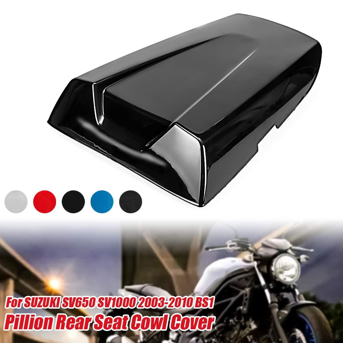 1x Motorrad Pit Dirt Bike Hinten Passagier Sitz Abdeckung Schutz Verkleidung Gugel Kissen Für Suzuki SV650 SV1000 2003-2010 m511-S010-Set