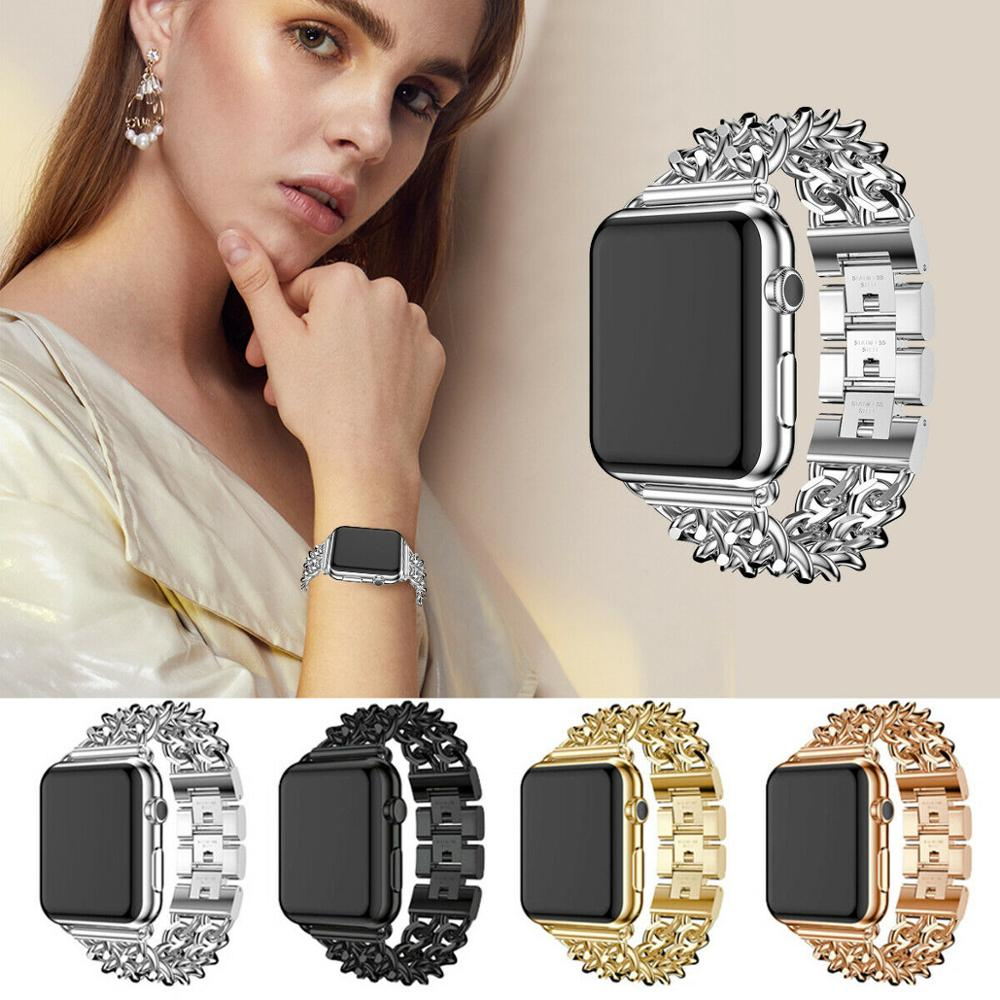 Stainless Steel Strap for Apple Watch 6 5 44mm 40mm Band Metal Link Bracelet IWatch Strap for Apple Watch Series 1 2 3 42mm 38mm woman strap for apple watch band 40mm 44mm link bracelet iwatch band 38mm 42mm stainless steel for apple watch series 6 5 4 3 2
