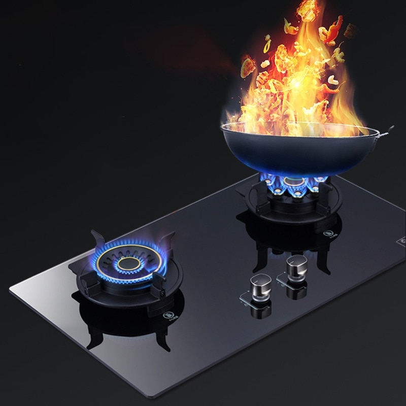 table embedded gas stove household energy-saving gas stove natural liquefied gas cooktop dual-purpose flip-type fierce stove furnace with fan low pressure natural gas liquefied gas burner commercial household restaurant with fan burner