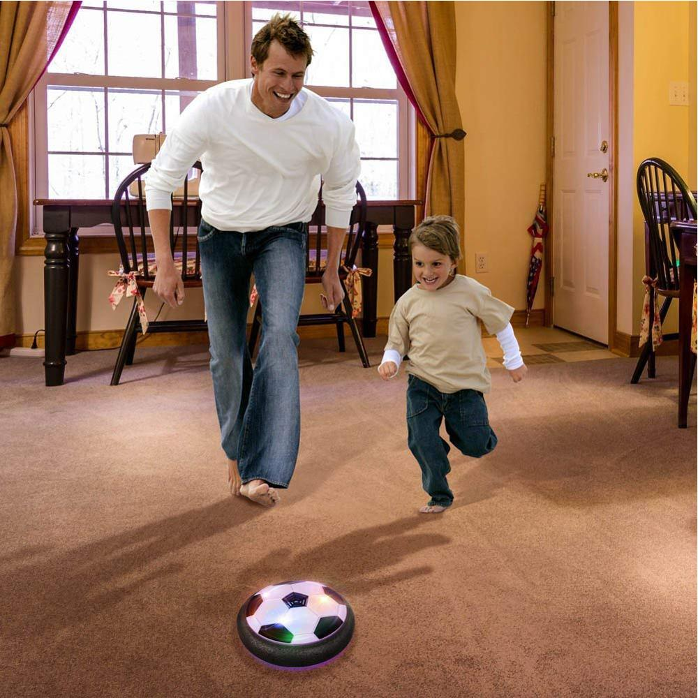18cm Hovering Football Mini Toy Ball Air Cushion Suspended Flashing Indoor Outdoor Sports Fun Soccer Educational Game Kids Toys
