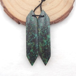 Atacado pedra preciosa, natural africano turquesa jóias brincos, encantos brinco personalizado 43x10x5mm, 6g