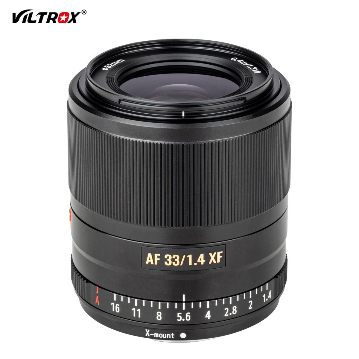 VILTROX AF 33/1.4 XF 33mm F1.4 lente de enfoque fijo automático para cámara Fujifilm FUJI x-mount X-T3 X-T2 X-H1 X20 X-T30 X-T20