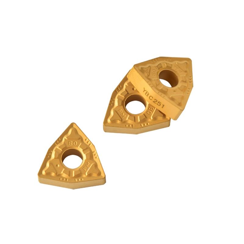 10pcs ZCC turning tool WNMG080408 -PM YBC251 WNMG 080408 PM carbide machine tools for steel WNMG080408-PM Free shipping cutter 10pcs wnmg080408 pm 4025 forturning
