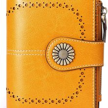 Genuine Leather Wallets for Women RFID Blocking Small Simple Short Bifold Mini Coin Pocket Purse for