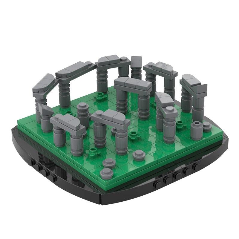 Мпц мини-Стоунхендж знаменитое здание строительные блоки модель сборки совместимы Сделай Сам блоки лего детские игрушки подарок MOC-56927