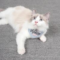 cat print triangular bandage fashion chic pet accessories adjustable cotton collar bibs puppy kitten cloth scarf dog letter bib