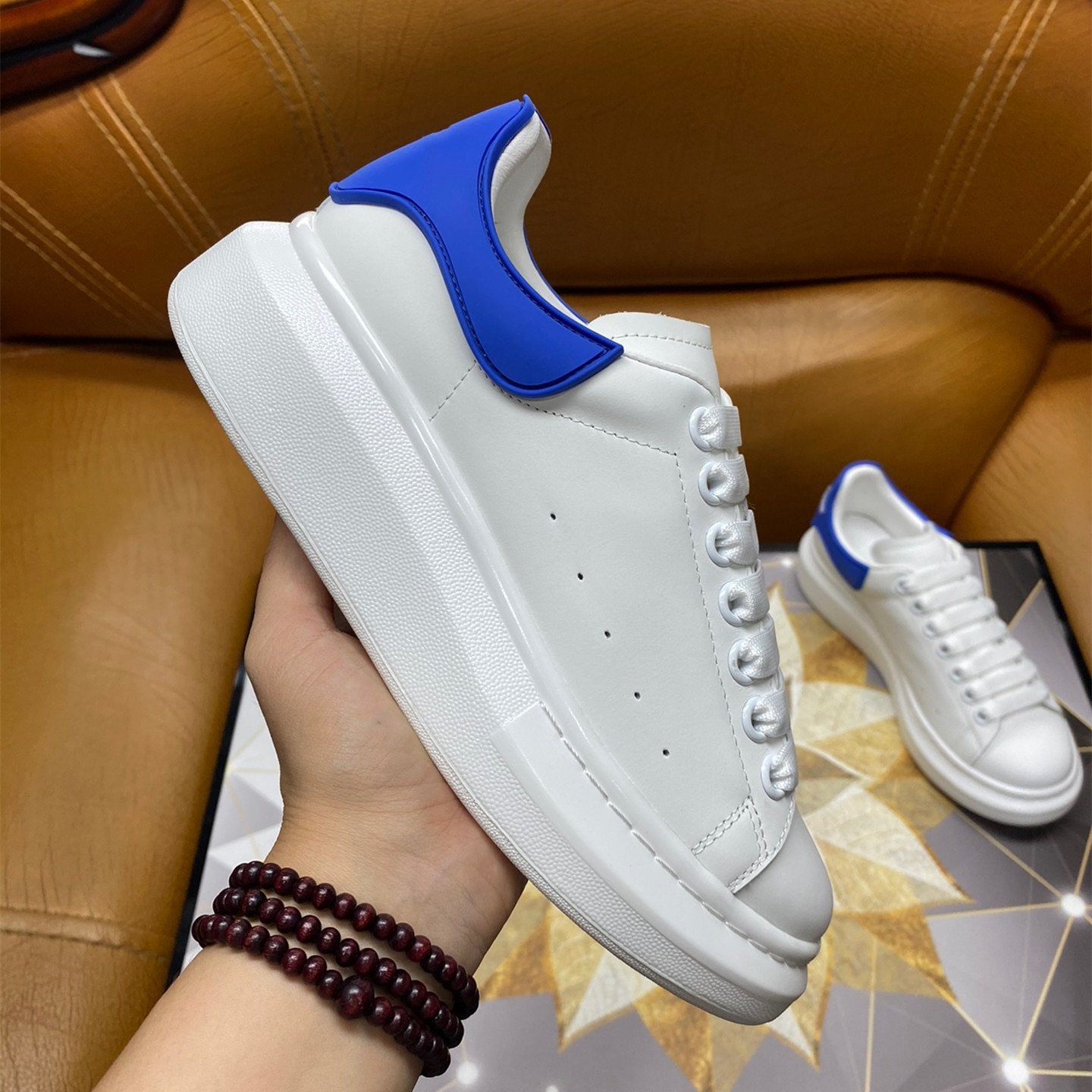 Women's casual fashion running shoes white outdoor walking men's sports shoes leather comfortable fans fashion sports shoes