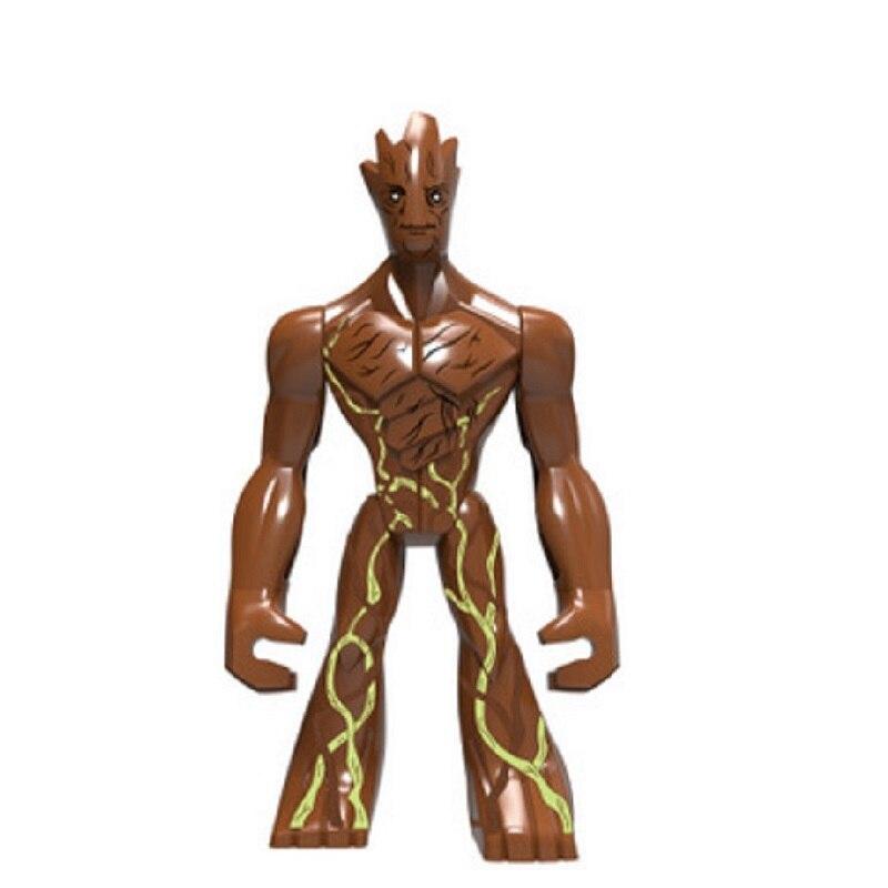 Decool 0198 única venda tamanho grande heróis a galáxia nebulosa yondu gamora senhor blocos de construção figuras para crianças presente brinquedos