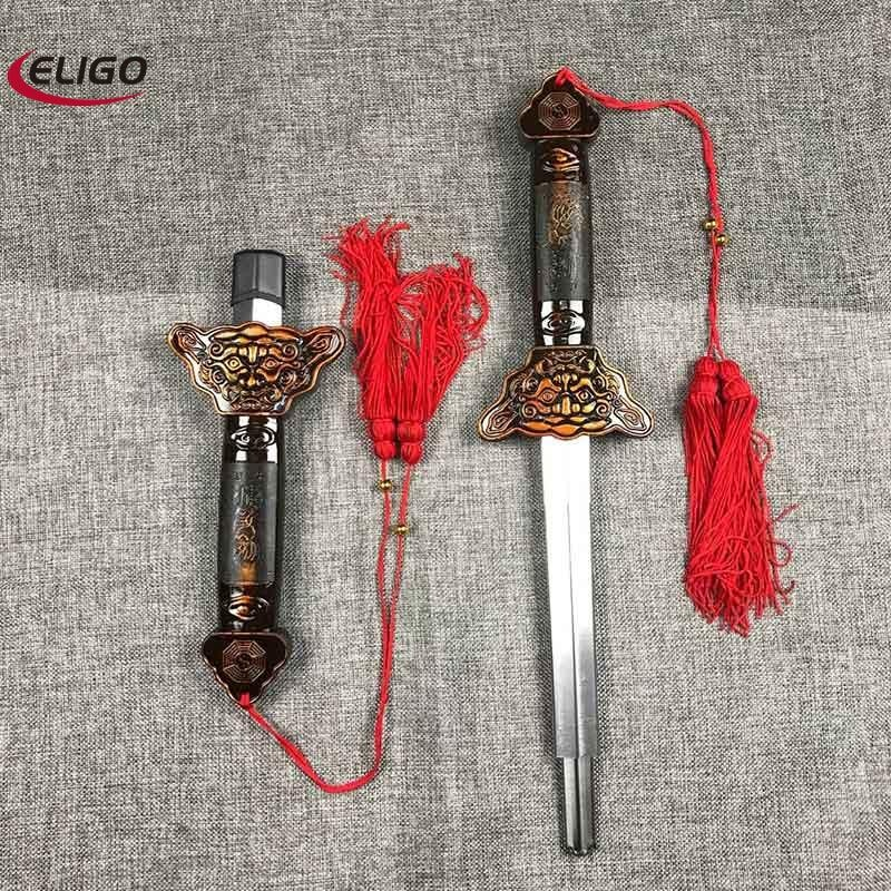 Shaolin Kungfu Tai Chi Sword Stainless Steel Telescopic Sword Performance Martial Arts Props Outdoor
