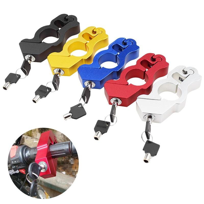 سلامة دراجة نارية المقود قفل الدراجات قبضة قفل المقود سماعة الفرامل ليفر القرص قفل ل سكوتر