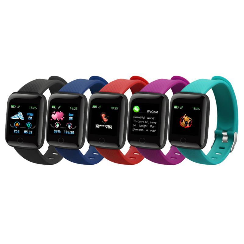 116plus Smart Watch Band Monitor de pulso cardíaco presión arterial Monitor pulsera de Fitness podómetro deportivo pulsera al aire libre dropship