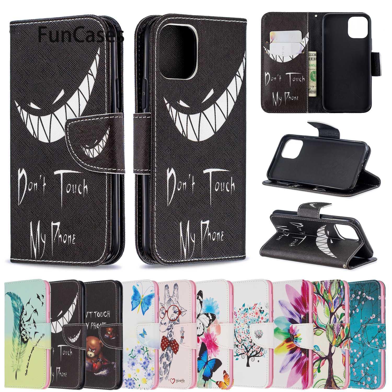"Animal Book Phone Cases For iPhone 11 Pro Max Capinha Wallet Flip Case iPhone estuche 11 Pro Max 6.5"" 2019 6 Plus XR 7 5 XS X 8+"