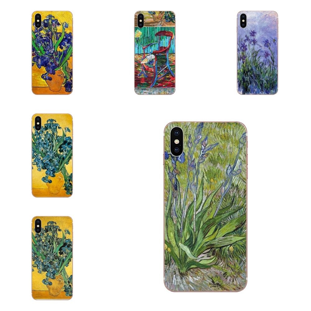De la piel del TPU del cuadro de Van Gogh Iris para Huawei Honor Mate 7 7A 8 9 10 20 V8 V9 V10 G lite jugar Mini Pro P inteligente