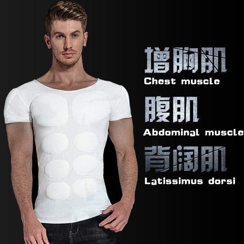 Ropa interior del pecho del músculo falso de los hombres realza la camisa realza la postura masculina Shaper Invisible aumento del sujetador Shapewear