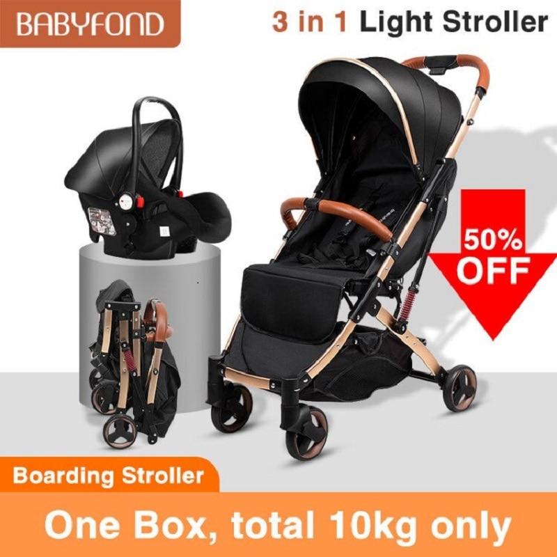 شحن مجاني! عربة أطفال 5.8 كجم + مقعد سيارة خفيف الوزن 3 في 1 عربة أطفال قابلة للطي عربة أطفال عربة أطفال
