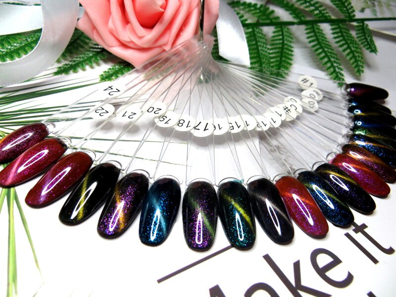 CHUNSHU Chameleon Cat Eye Nail Gel Magnetic Soak Off UV Gel Nail Polish Glitter Shining  Magnet Gel Lacquers 7ml Black Base need