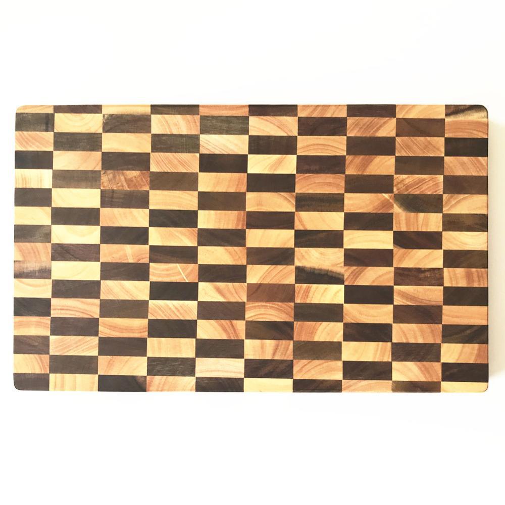 Acacia Wood Cutting Board Rectangle End Grain Butcher Block