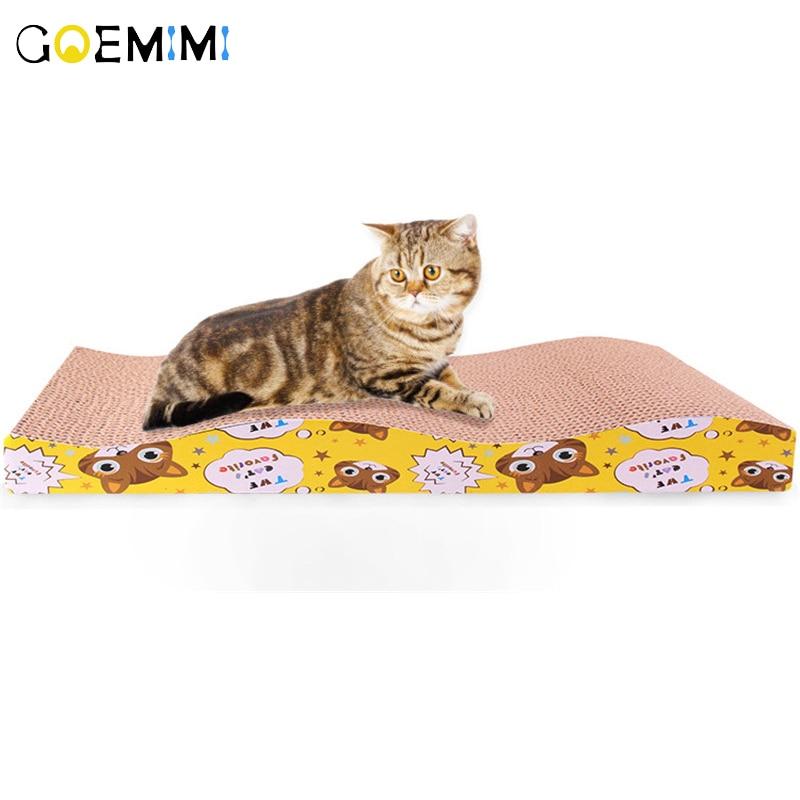 Rascador para gatos de 4 formas, juguete para gatos, tamaño grande, doble cara, duradero, almohadilla rascadora para mascotas, alfombrilla para cama con cuidado de garra de juguete de hierba gatera