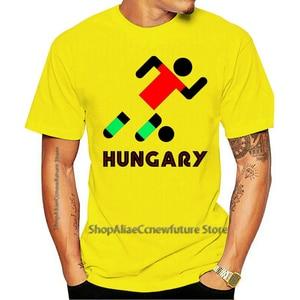 2021 Leisure Fashion Large T-shirt 100% Cotton Hungary Retro Football Hungarian Stick Man  European Soccer