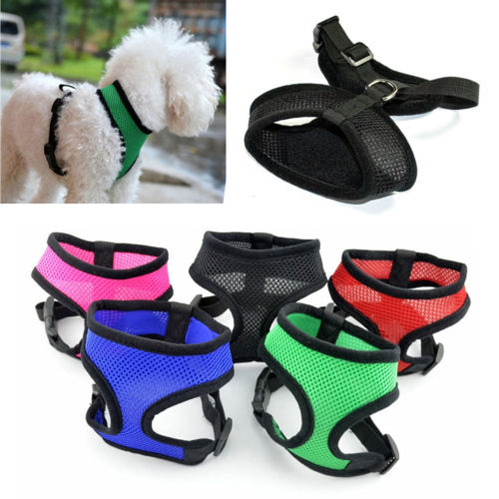 Pet Dog Reflective Harness Leash Control Collar Safety Strap Mesh Vest For Puppy Cat Supplies Adjustable