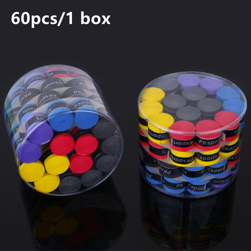 60pcs Universal Sweatbands Anti-slip Overgrip Tape For Fishing Rods Badminton Grips Slingshot Tennis