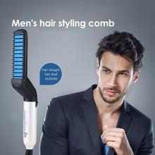 Hair Straightener Hot Heating Comb Hair Straight Styler  Multifunctional Hair Comb Curling Curler Ir