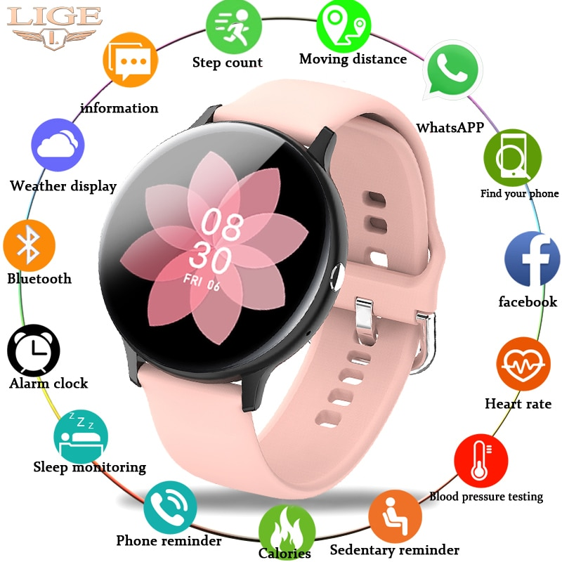 LIGE امرأة بلوتوث الهاتف ساعة ذكية النساء مقاوم للماء الرياضة اللياقة البدنية ساعة تعقب الصحة 2021 مشغل موسيقى جديد Smartwatch الرجال