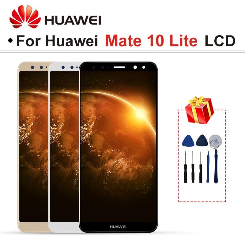 Для HUAWEI Коврики 10 Lite RNE-L01 RNE-L02 RNE-L03 RNE-L21 ЖК-дисплей Дисплей Сенсорный экран планшета Запчасти для авто для HUAWEI Nova 2i Экран