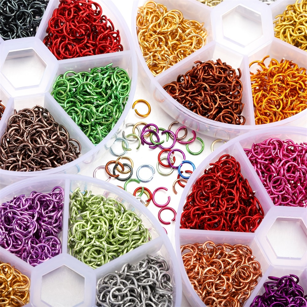 1080Pcs/Box 6mm Colorful Open Jump Rings Split Jump Ring Connector for DIY Necklace Crafts Jewelry Making Findings Accessories 1 box 4 5 6 7 8 10mm jewelry findings open jump split rings connector for diy jewelry findings making rhodium gold silver color