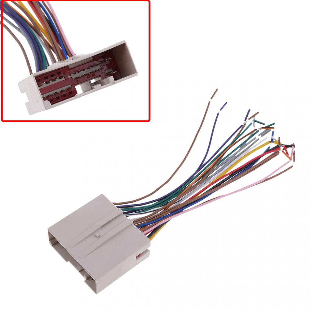 1 шт. Аудио Автомобильные стереосистемы жгут проводов CD проигрыватель провода для Ford/Hyundai/Lincoln/Mercury серии и т. Д. 18 см/7,08 дюйма